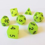 Dés  16mm - Role Playing Dice Set - Brille dans la Nuit Jaune