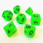 Dés  16mm - Role Playing Dice Set - Brille dans la Nuit Vert