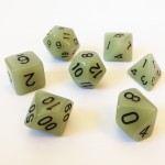 Dés  16mm - Role Playing Dice Set - Brille dans la Nuit Gris