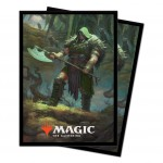 Sleeves Magic The Gathering Throne of Eldraine / Le Trône d'Eldraine - V3 - Garruk, chasseur maudit