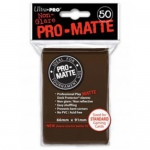 Sleeves Standard x50  PRO MATTE - Non Glare - Marron