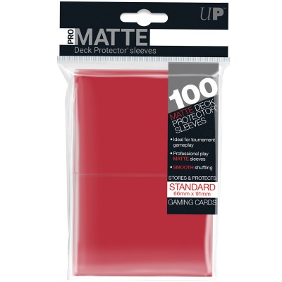 Sleeves PRO MATTE - Non Glare - Rouge