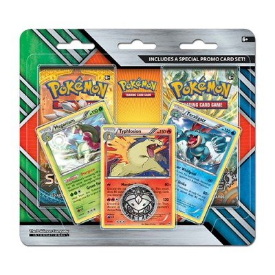 Pack 2 Boosters Meganium, Typhlosion, Feraligatr