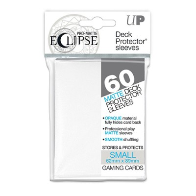 Sleeves Small x60 PRO-MATTE - Eclipse - Blanc