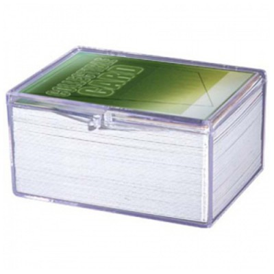 Hinged Clear Box - (100 Cards)