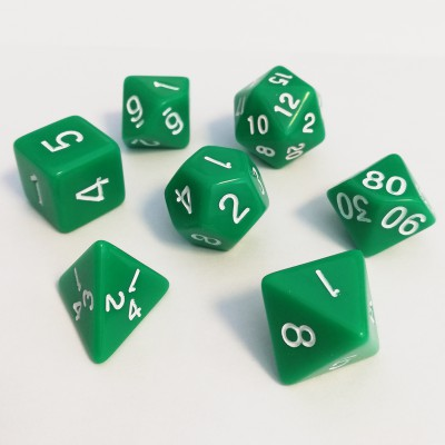 Dés 16mm - Role Playing Dice Set - Opaque Vert