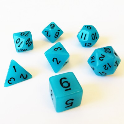 Dés 16mm - Role Playing Dice Set - Brille dans la Nuit Bleu
