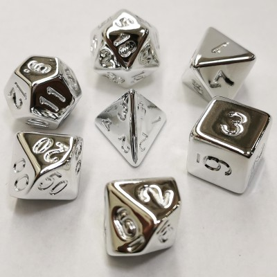 Dés 16mm - Role Playing Dice Set - Acrylic Silver